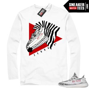 Yeezy Zebra Long Sleeve White shirt