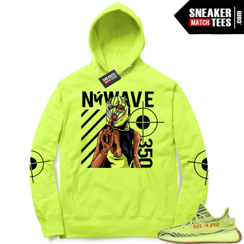 Yeezy Frozen Yellow matching hoodie sweater