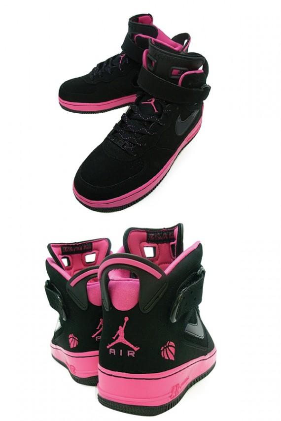 Air Jordan Force VI AJF 6 GS Black Pink