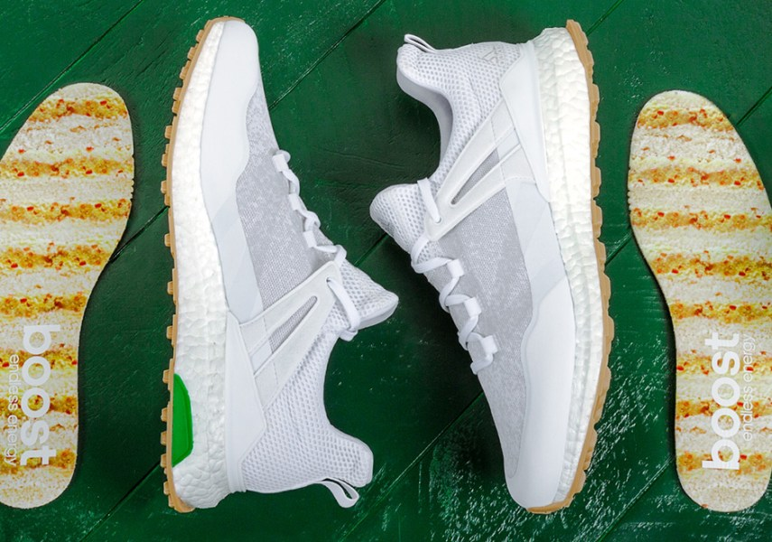 adidas Golf CrossKnit Boost Pimento Cheese   SneakerNews com adidas Golf is bringing Boost to the Augusta National green in a delectable  way  The adidas CrossKnit Boost  which features a full length Boost midsole  akin