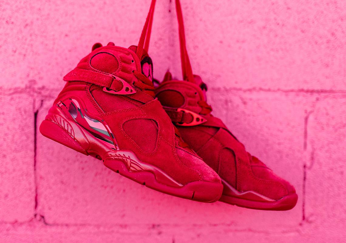 Jordan 8 Valentines Day Red Suede Release Info