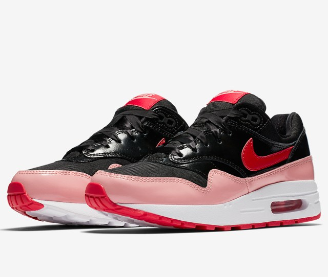 Nike Air Max 1 Available At Nike 100 Color Black Bleached Coral Speed Red