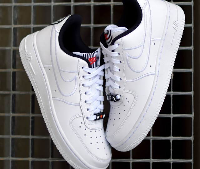 Nike Air Force 1 Low Release Date February 10 2018 Color White White Black Style Code Aj0867 100