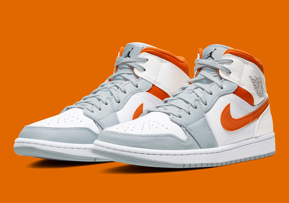 Air Jordan 1 Mid Orange Grey CW7591 100 Crumpe