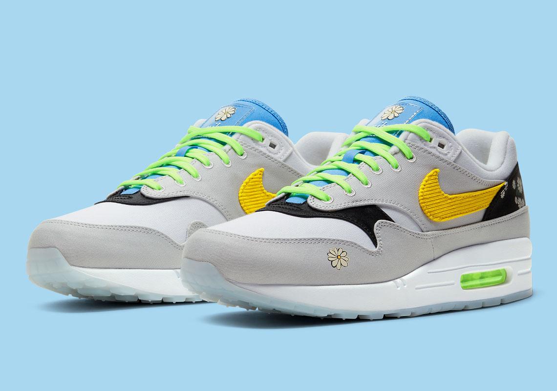 Date de sortie de la Nike Air Max 1 Daisy CW6031 100 Crumpe