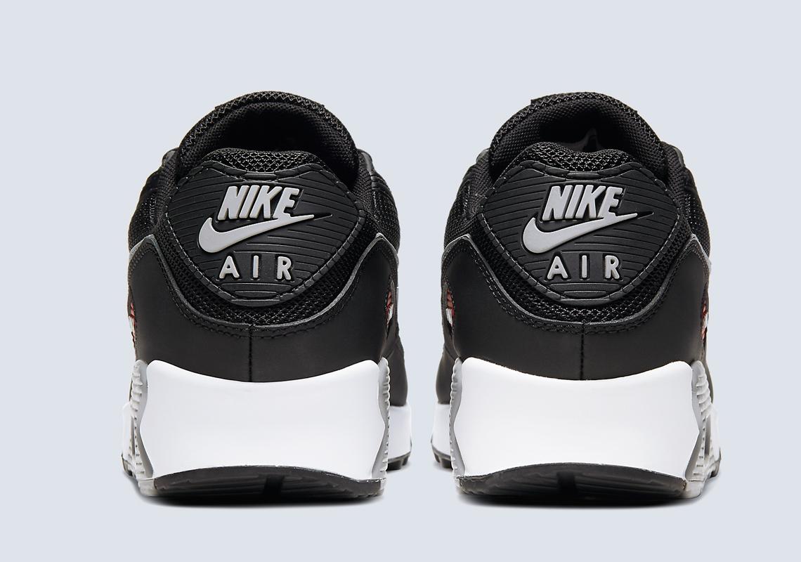 Nike Air Max 90 Premium Noir Rouge CW7481 002 Crumpe