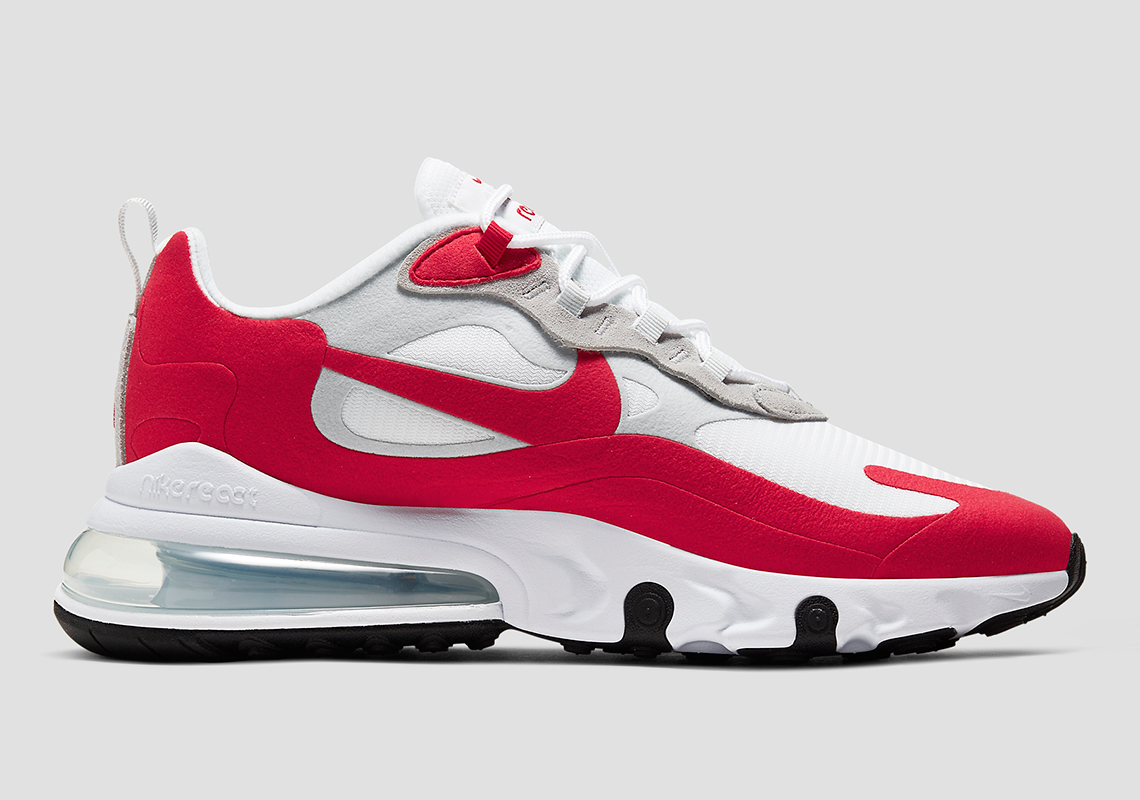 Nike Air Max 270 React Blanche Rouge CW2625 100 Crumpe