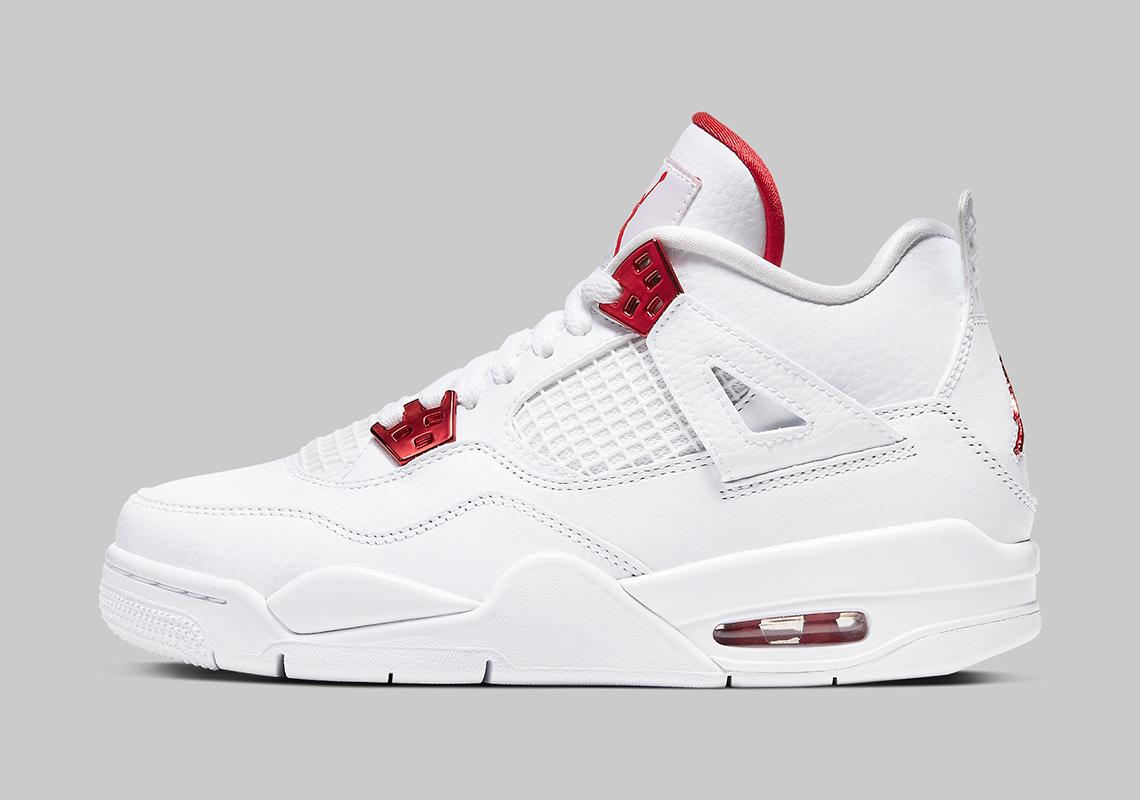 Air Jordan 4 Metallic Red Enfants 408452-112-1 - Crumpe