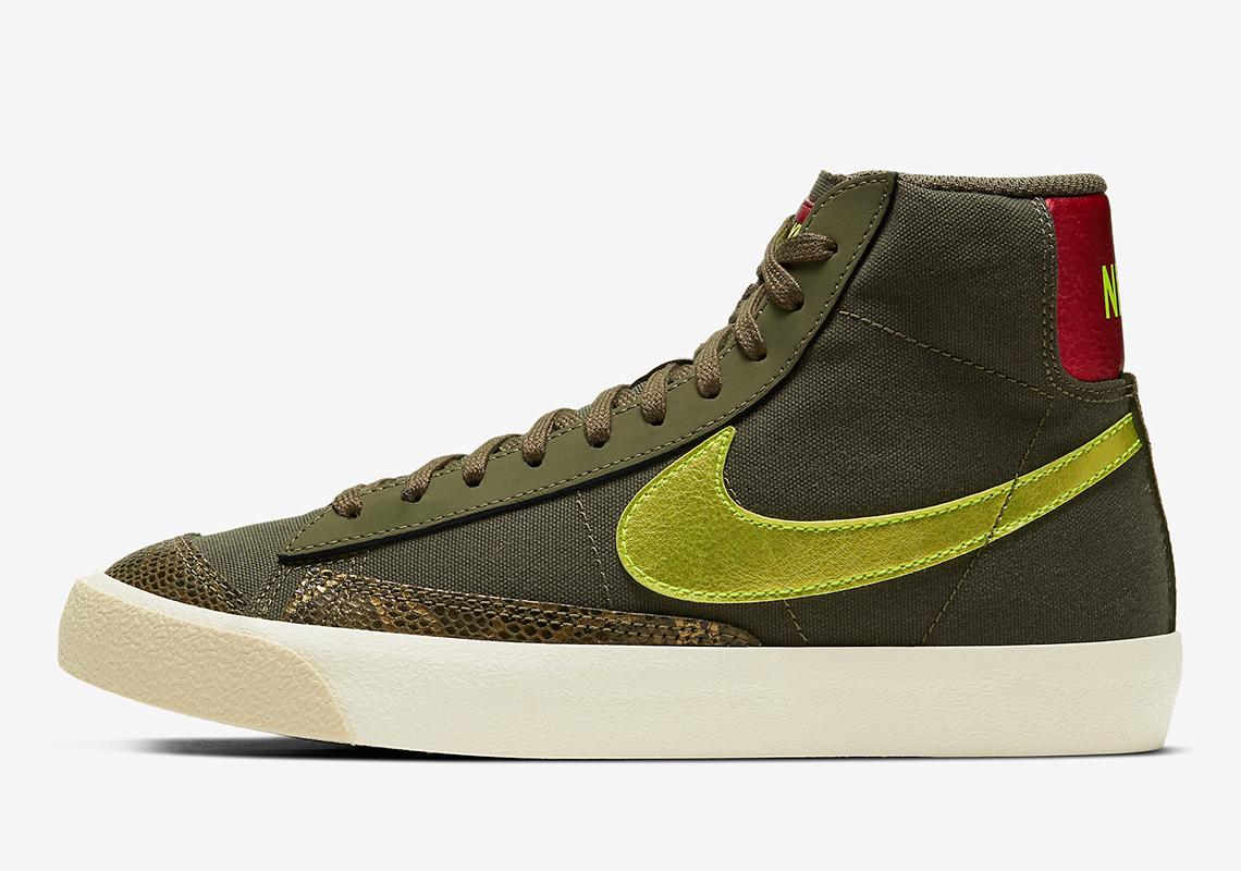 Nike Blazer Mid 77 Olive Jaune CZ0462-200 - Crumpe