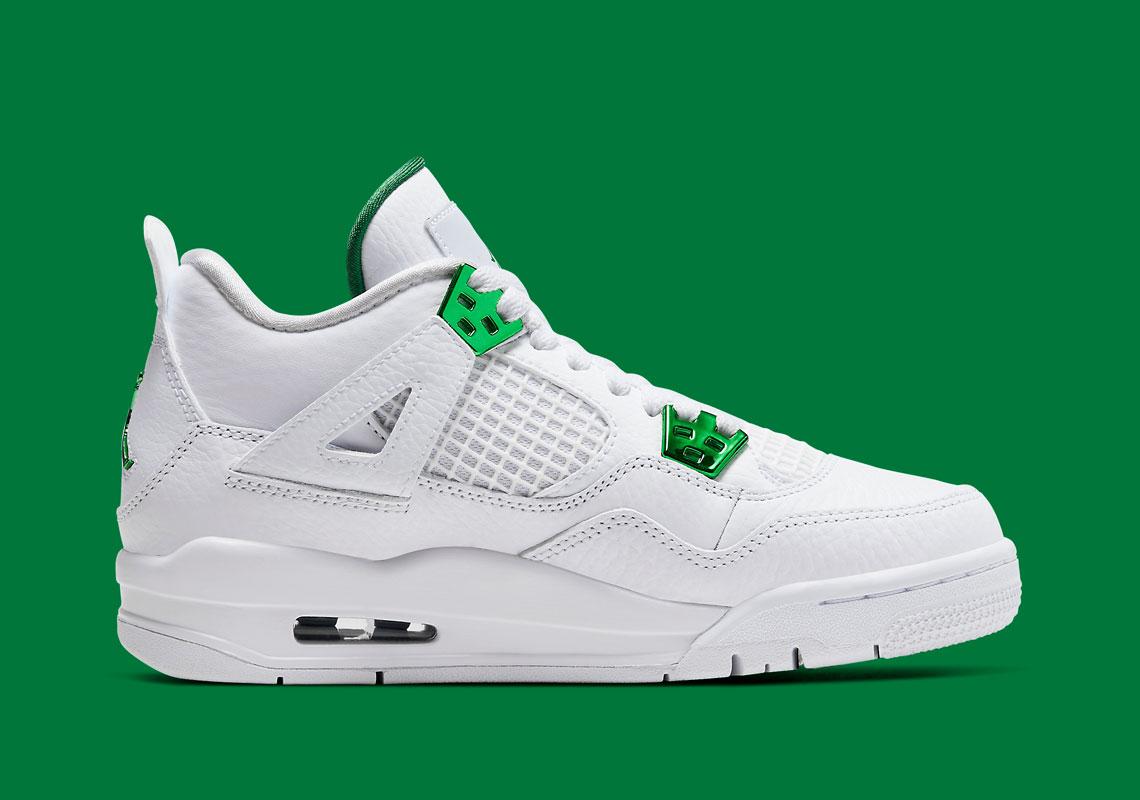 Air Jordan 4 Kids Metallic Green 408452-113 Release - Crumpe
