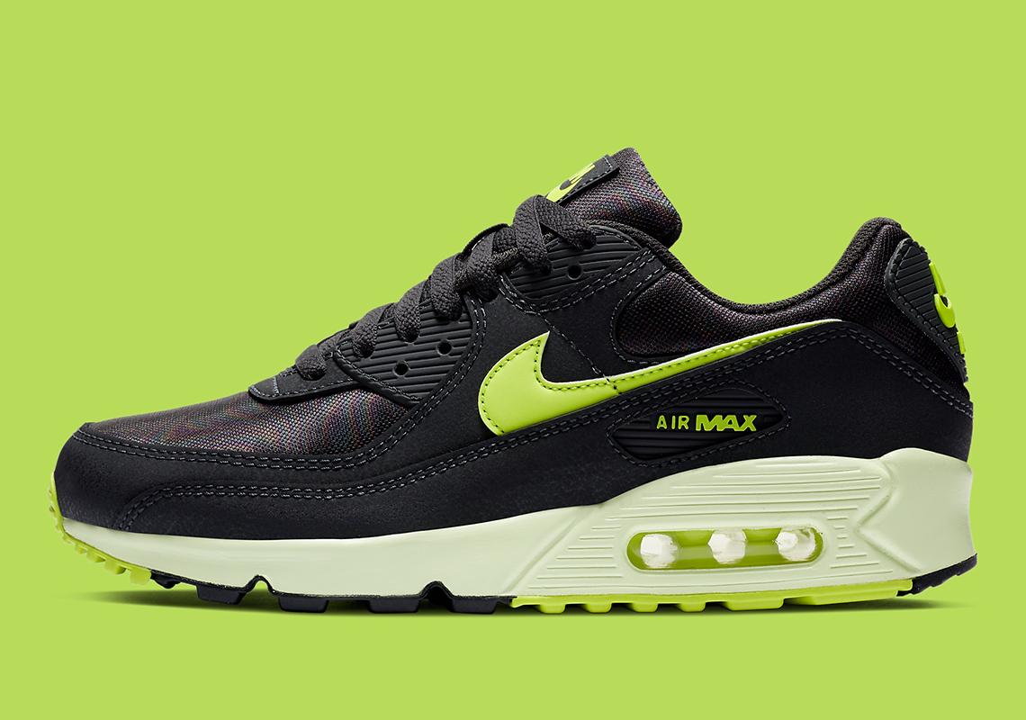 Nike Air Max 90 Noir Vert CZ0378-001 - Crumpe