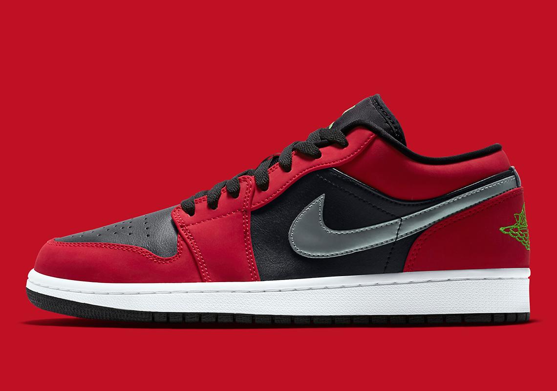 Air Jordan 1 Low Gym Rouge Noir 553558-036 - Crumpe