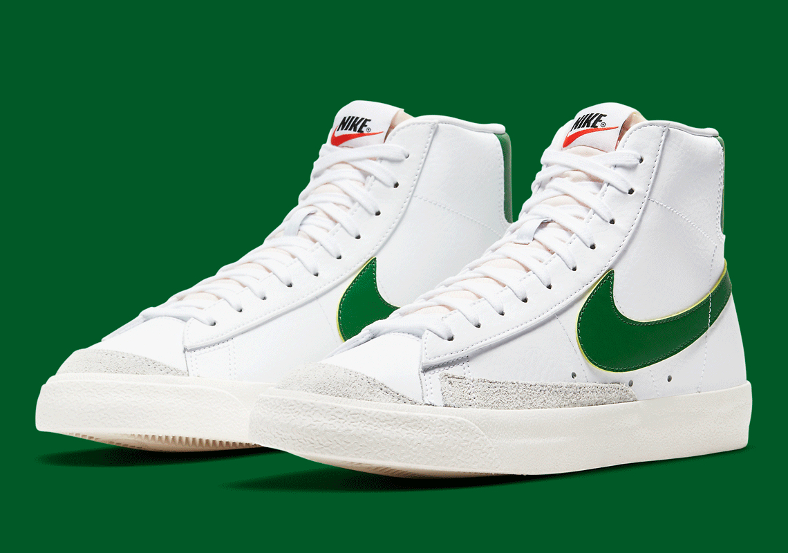 Nike Blazer Mid '77 Blanc Pin Vert BQ6806-115 - Crumpe
