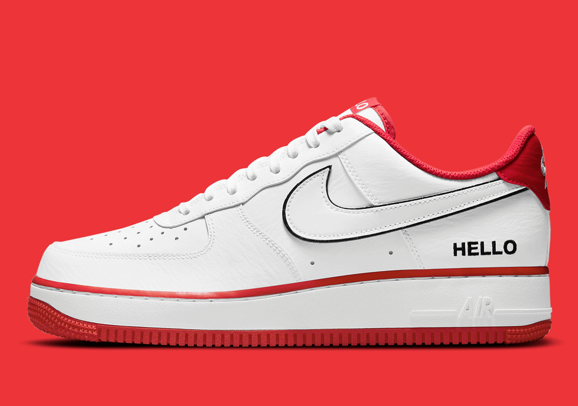 Nike Air Force 1 Hello Blanche Rouge CZ0327-100 – Crumpe