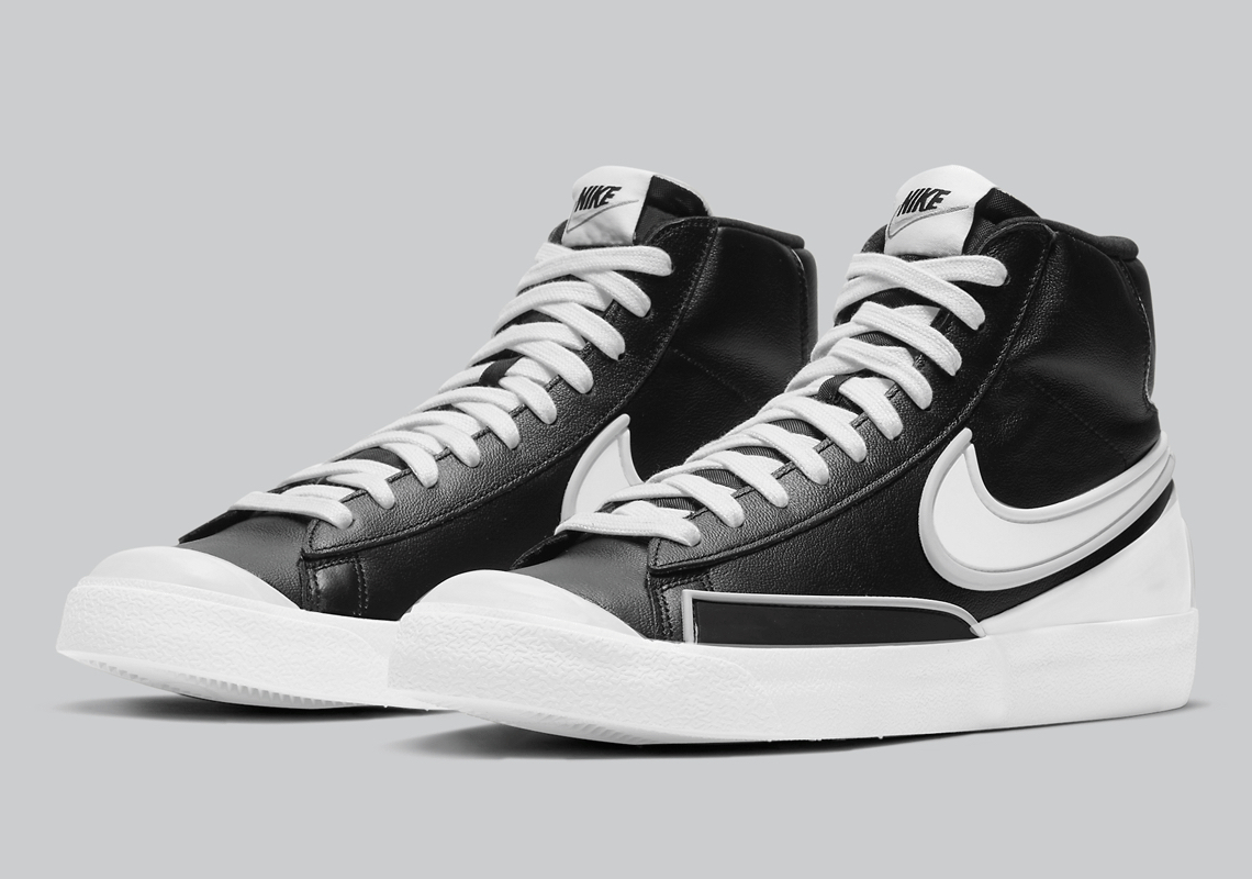Nike Blazer Mid Infinite Noir Blanche DA7233-001 - Crumpe