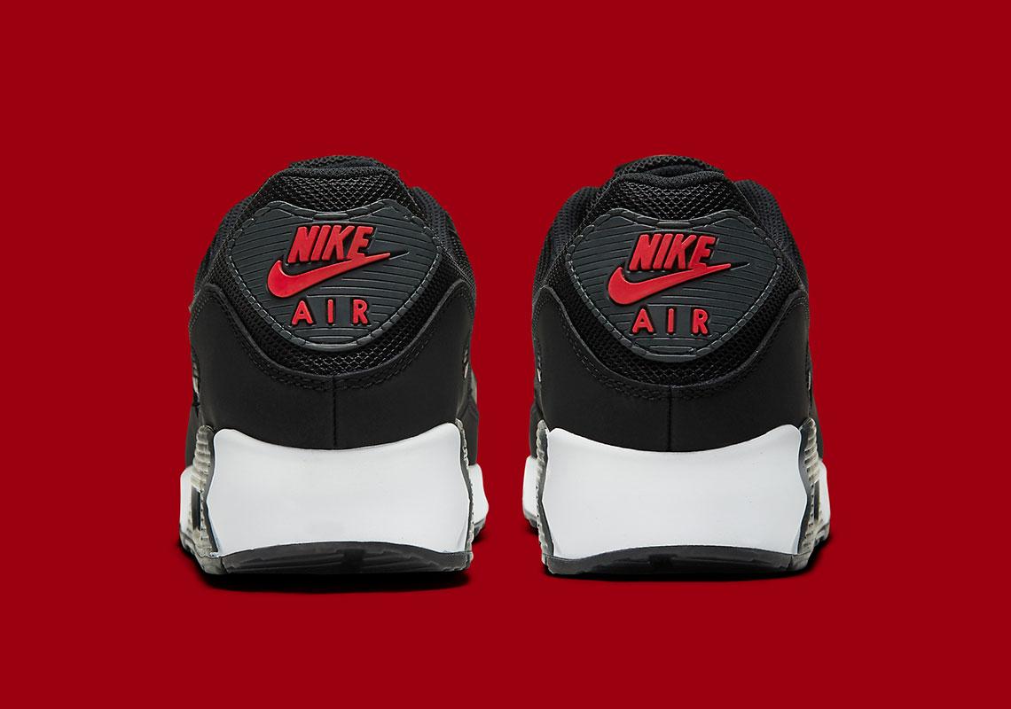Nike Air Max 90 DH4095-001 Noir Université Rouge | SneakerNews.com ...
