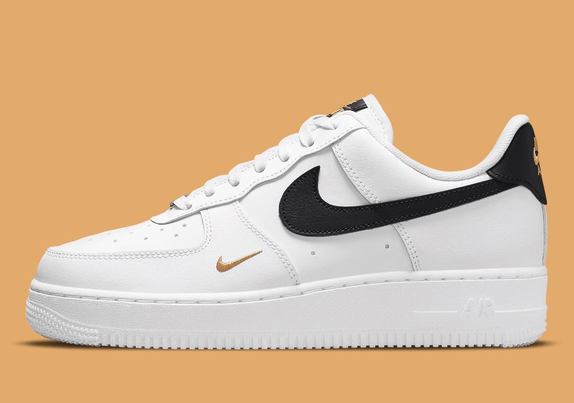 Nike Air Force 1 Blanche Noir Or CZ0270-102 - Crumpe
