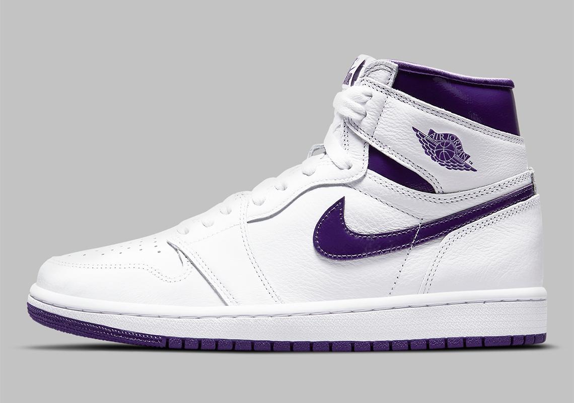 Air Jordan 1 Retro High OG WMNS Blanc Court Violet CD0461-151 - Crumpe