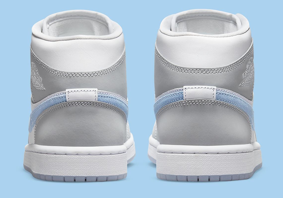 Air Jordan 1 Mid Femme Grise Bleu BQ6472-105 – Crumpe
