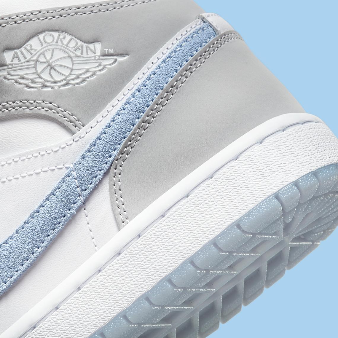 Air Jordan 1 Mid Femme Grise Bleu BQ6472-105 - Crumpe