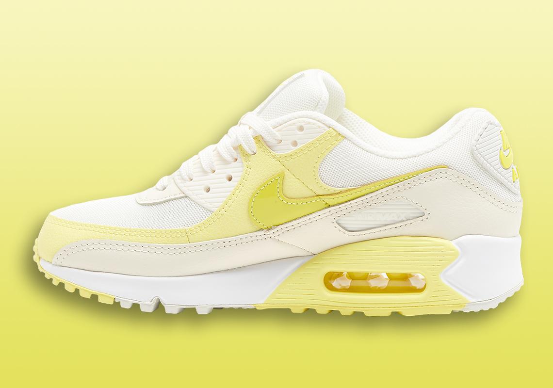 Nike Air Max 90 W Blanche Jaune Charme DD5198-100 - Crumpe