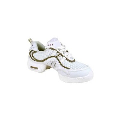 Bloch Adult Mesh Sneaker in White and Bronze