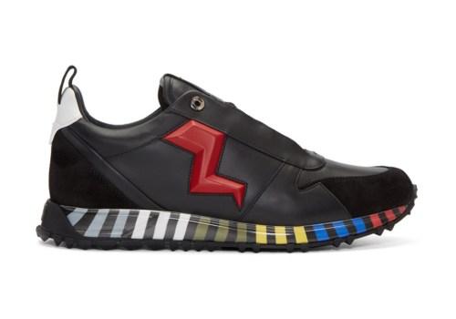 fendi-black-red-leather-bolt-sneaker-1