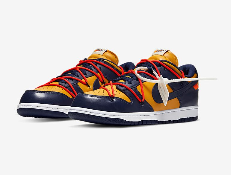 Off-White x Nike Dunk Low Midnight Navy/Varsity Maize