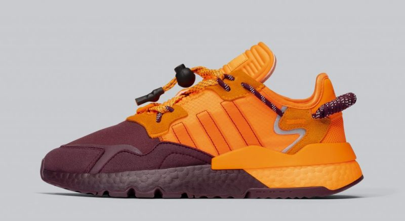 Ivy Park x adidas Nite Jogger Maroon/Solar Orange