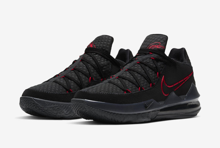 Nike LeBron 17 Low Black/University Red