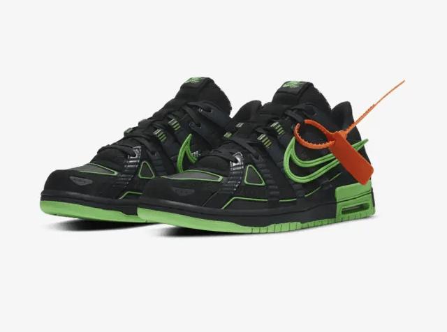 Off-White x Nike Rubber Dunk Green Strike