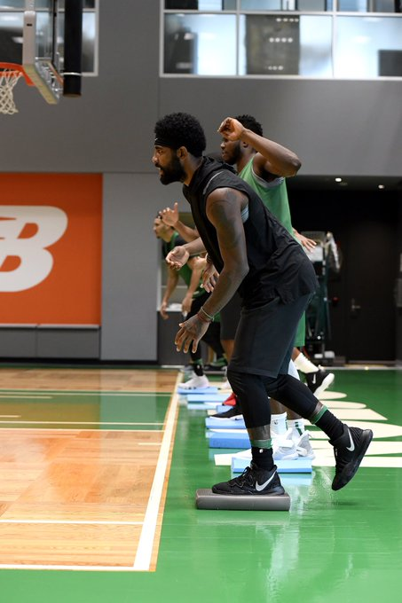 3cad76673783 Kyrie Irving wearing the Kyrie 5