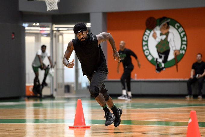 d668fc4c0258 Kyrie Irving was spotted at Celtics practice wearing a shoe that was not  the Kyrie 4 nor the Kyrie Low.