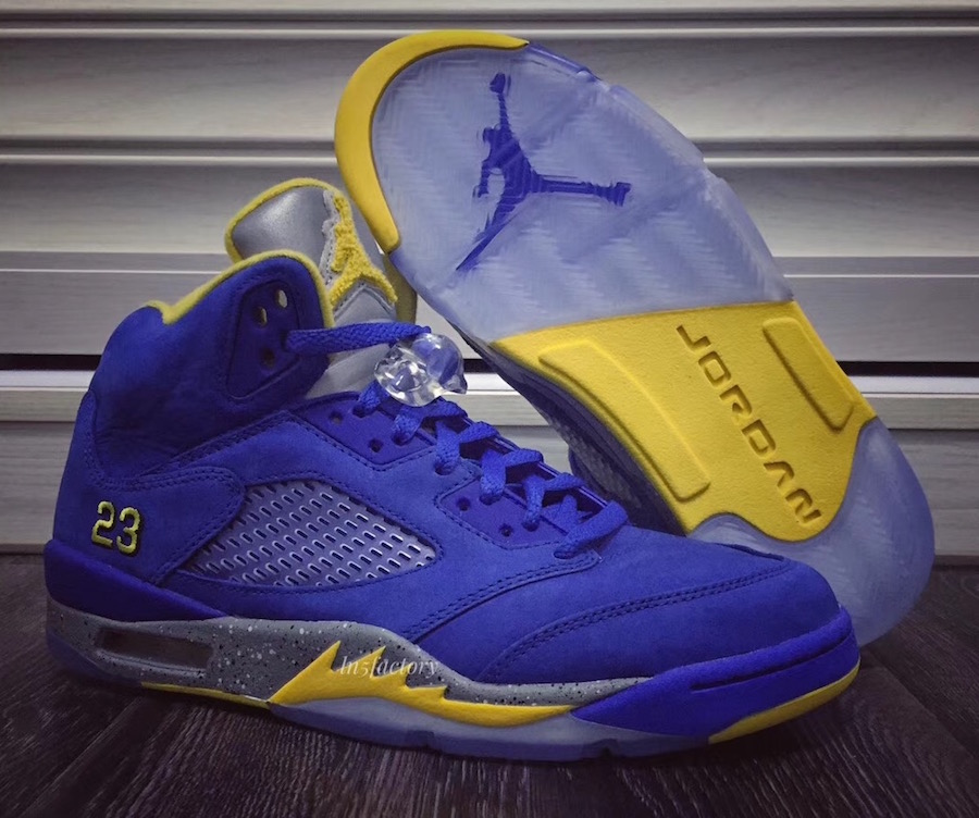 """buy online 5cc62 e226c 2019 will see Jordan Brand release brand new versions of the Air Jordan 5 """" Laney"""", which, like the first version in 2000 and its retro progeny in  2013, ..."""