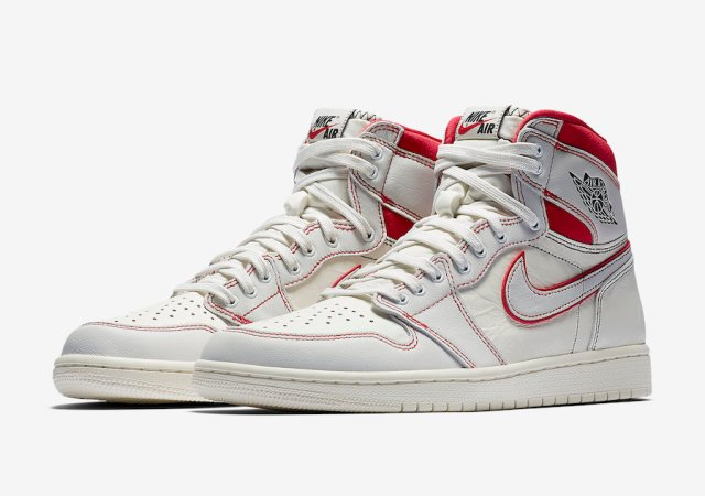 8357714b5c0adc Nike has released official images of the Sail University Red Air Jordan 1  for March 16