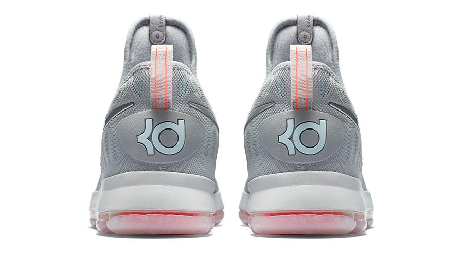 Nike Zoom KD9 Gray Zero NBA 2016 Release Back View