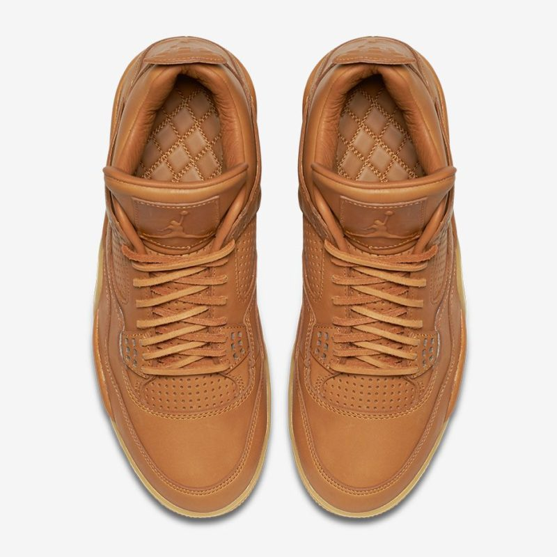 best sneakers ed24e 92dcd Air Jordan 4 Retro Premium Ginger top view