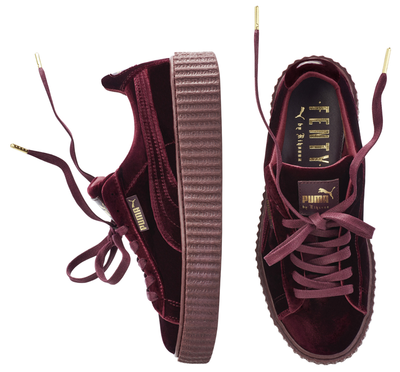 8286e1add72b6b Puma x Rihanna Fenty Velvet Creeper royal purple colorway. Puma x Rihanna  Fenty Velvet Creeper glacier grey colorway
