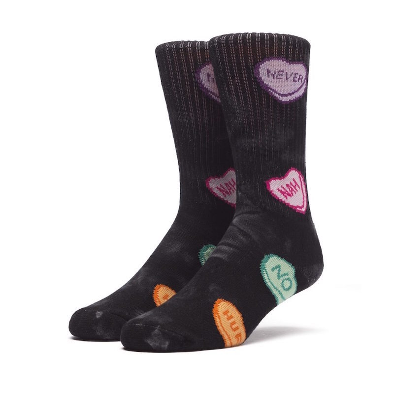 ac219834437 HUF V-Day Pack tie dye candy sock