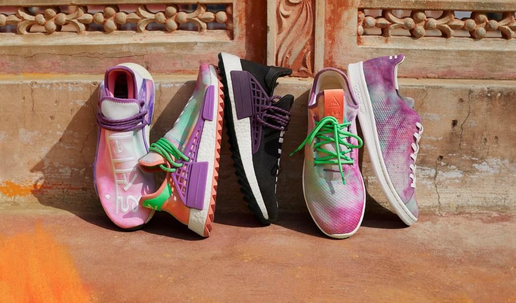 "9c0072465355b Pharrell x adidas Hu Holi ""Powder Dye"" Collection To Release This Weekend"