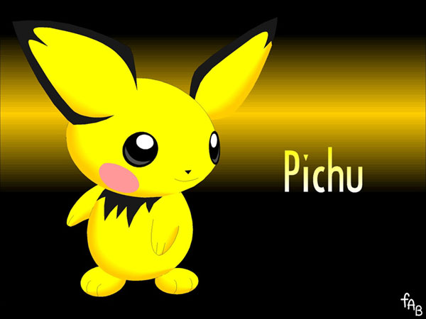 free pokemon pichu coloring pages