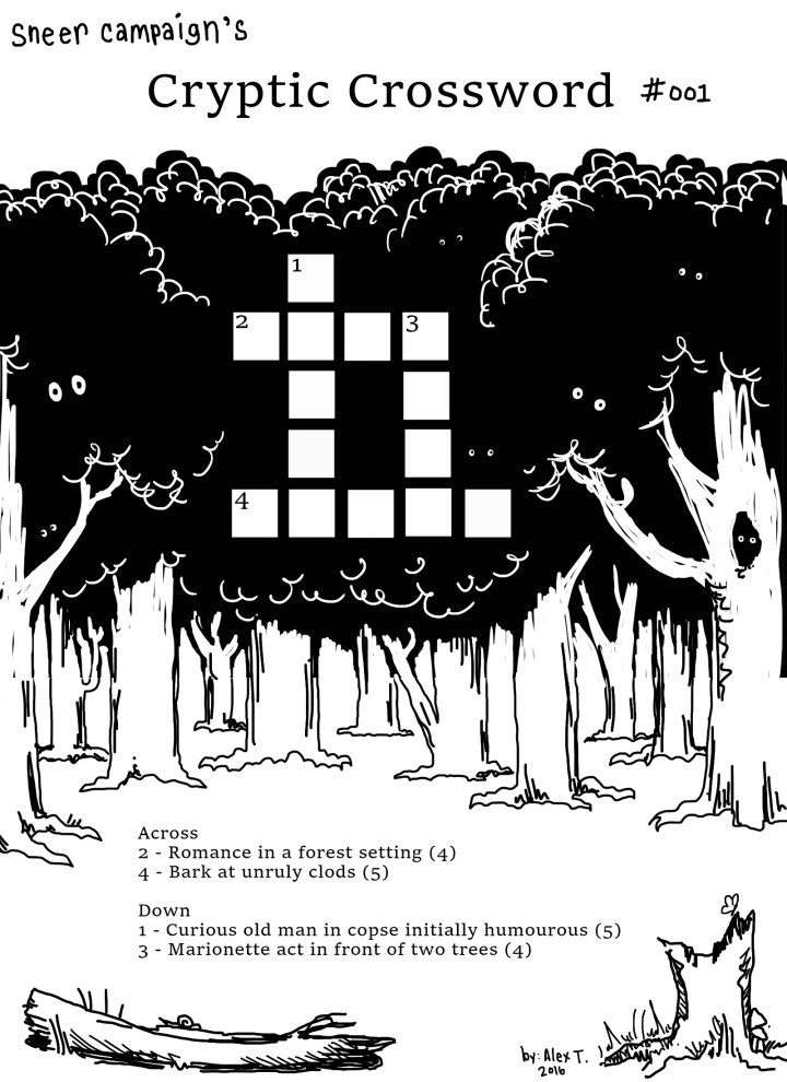 cryptic crossword puzzle