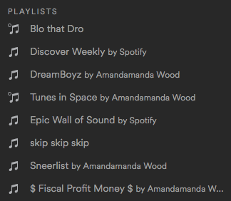 Spotify Playlists for Amandoll Week