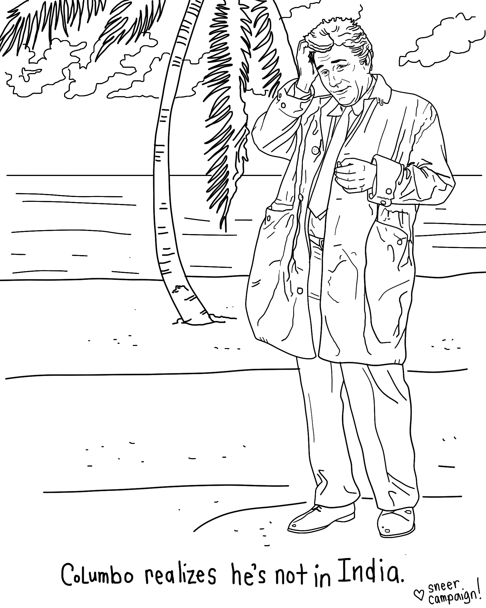 happy columbo day another coloring page u2013 sneer campaign