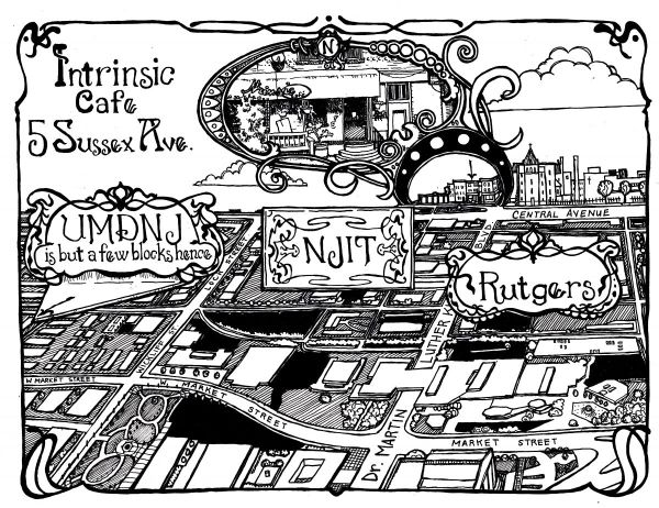 Cafe Map by Amanda Wood