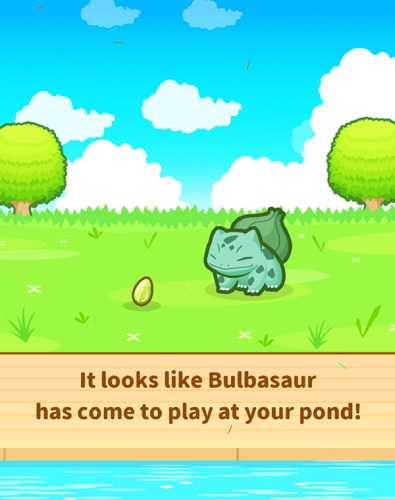 Pokemon Magikarp Jump - It looks like Bulbasaur has come to play at your pond!