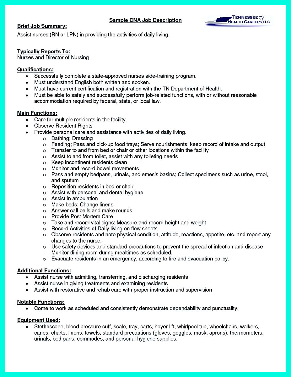 Resume Examples Sample Resume For Cna Entry Level Template