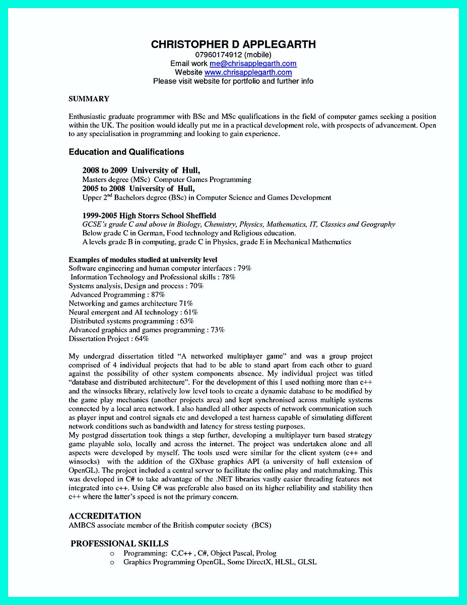 Biology Resume Examples Personal Statement Examples Biology