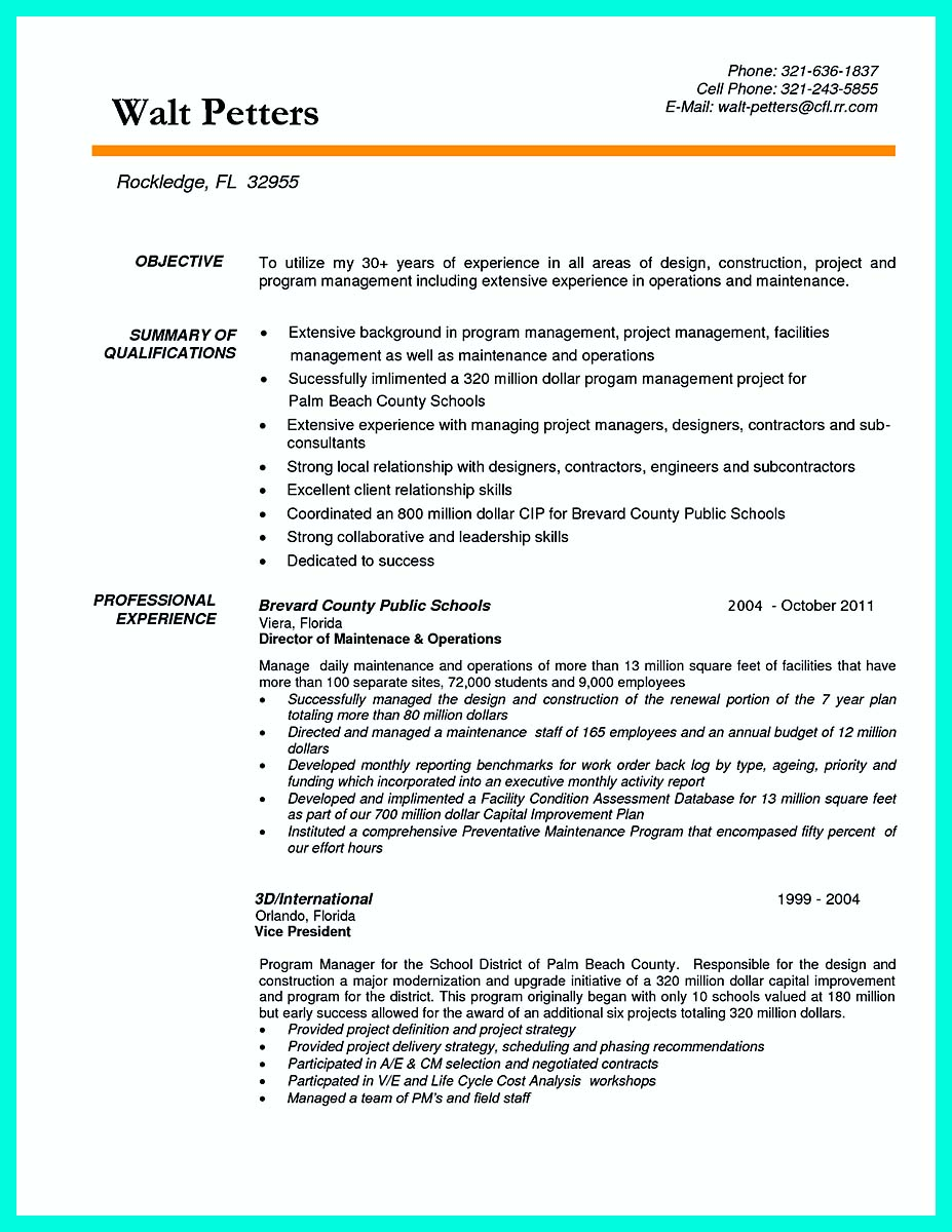 Resume Cover Letter Construction Supervisor Sample Manager 324x420 And