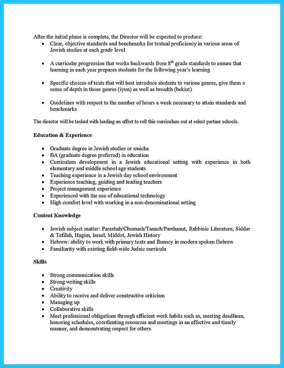 starting your career now with a relevant athletic director resume